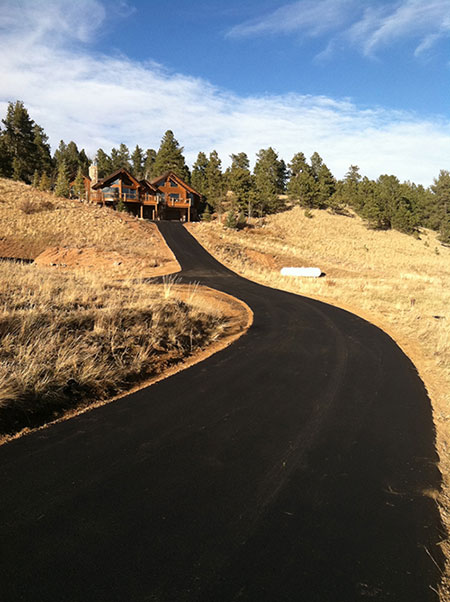 Fresh asphalt paving in Breckenridge