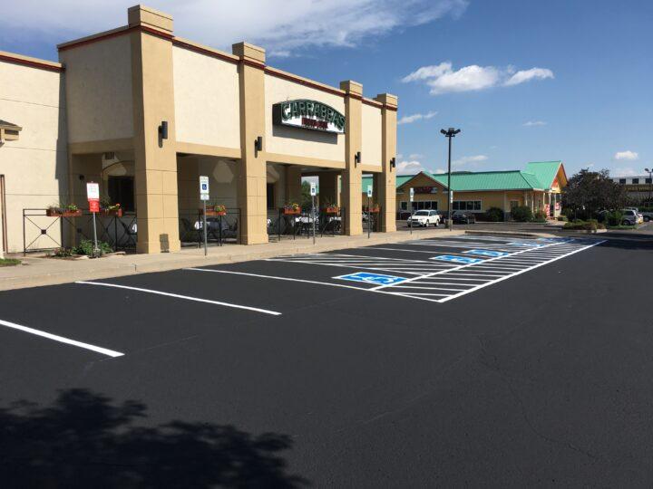Parking lot resurfaced in Colorado
