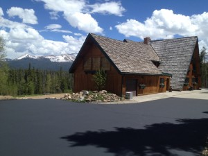 New sealcoating on driveway in Breckenridge