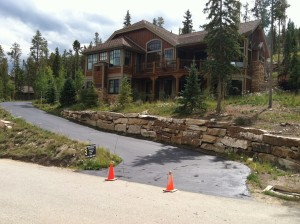 Asphalt maintenance and sealcoating at residence in Breckenridge CO