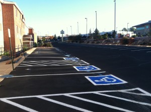 Parking lot striping in Colorado Springs, CO