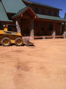 Prepping driveway for asphalt paving