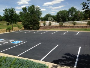 Parking lot striping job completed