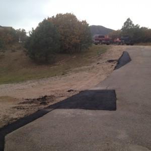 Asphalt repair on driveway