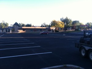 Line striping completed at office complex