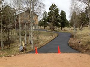 Asphalt driveway paving in Woodland Park, CO